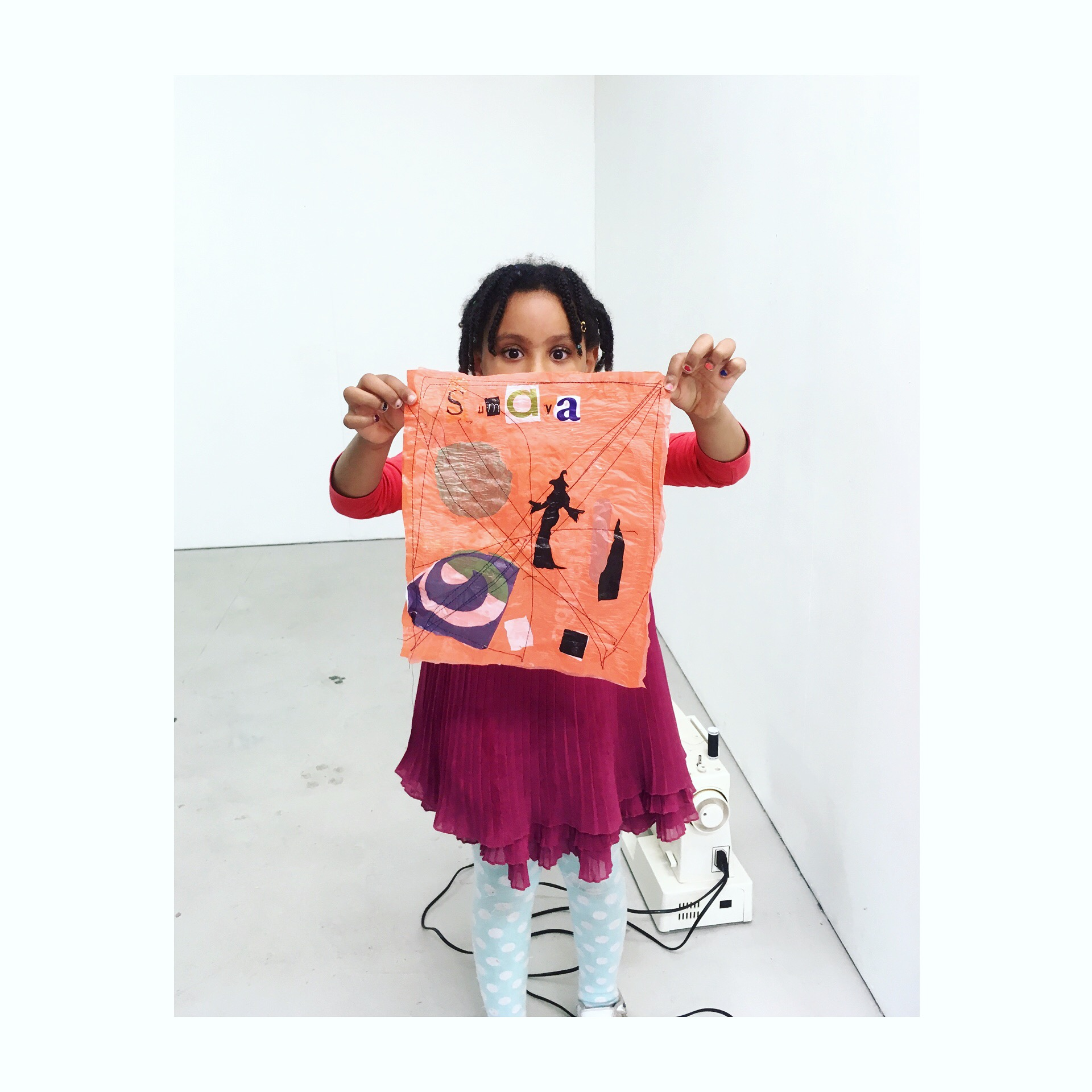 """My intention is to take art outside of the """"white cube"""" space, engaging with the local community including those who would not normally go to an art gallery. Through these workshops I seek opportunities to engage the community in art as activism."""